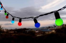 50 multi color rgb led large string lights 17ft black