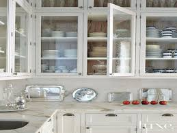 kitchen white cabinet glass doors beautify the kitchen by using