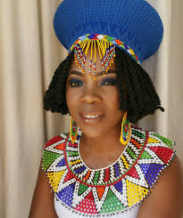 traditional wedding attire zulu traditional wedding attire hat earrings and necklace