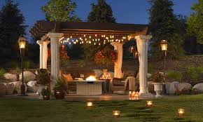 Solar Patio Light Lighting Ideas Outdoor Lighting Ideas With Wrapping Tree With