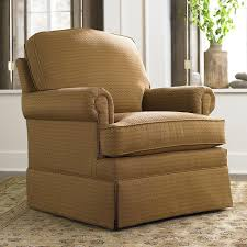 Living Room Swivel Chairs Upholstered Traditional Upholstered Skirted Accent Chair Inside Upholstered