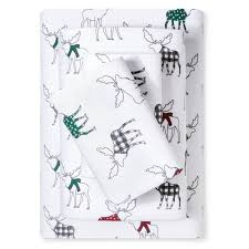 evergreen holiday flannel sheet set ebay