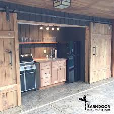 Barn Door Style Kitchen Cabinets Amazing Barn Door Style Kitchen Cabinets Isnu0027t This Outside