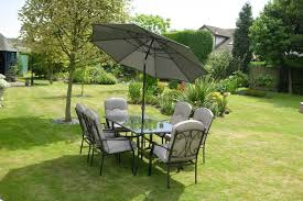 6 Seat Patio Table And Chairs Quality Black Grey Padded 6 Seater 8 Metal Garden Dining Set