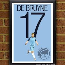 kevin de bruyne 17 poster manchester city fc belgium soccer
