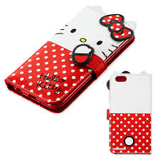 Kitty Bifold Iphone 6 Soft Case Cover Card Pocket