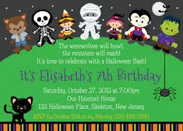 Free Printable Birthday Invitation Cards For Kids Birthday Invites Glamorous Halloween Birthday Invitations Ideas