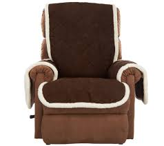 sure fit reversible faux suede sherpa recliner furniture cover