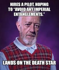 Obi Wan Kenobi Meme - bad luck kenobi star wars funny lol bad luck brian meme obi