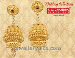 gold earrings for wedding pc chandra gold earrings wedding collection jewellery designs
