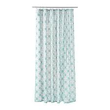 ikea ingeborg shower curtain white turquoise new ebay