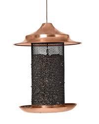 copper sunflower bird feeder large capacity bird feeder