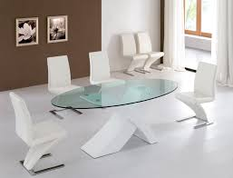 Glass Dining Table Chairs Luxury Modern Glass Dining Table Tedxumkc Decoration