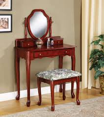 makeup dressers for sale 3441 antique cherry wood vanity makeup bench stool table mirror