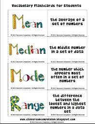 83 best mean median mode images on pinterest range teaching