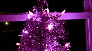 my pink tree with pink led lights