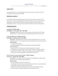 resume exles for objective section exle of objective for resume customer service profile and