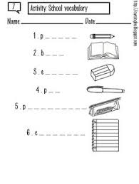 worksheets what am i items for each related