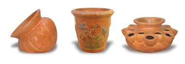 non glazed rustic pots large and midsized pots and planters