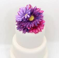 wedding cake topper fuchshia pink purple lavender gerbera cake