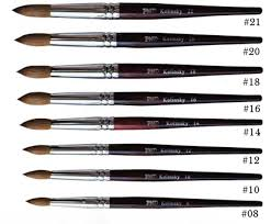 pnd acrylic nail brushes 8 to 22 prices change by size