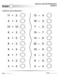 mental maths tests maths worksheets for kids