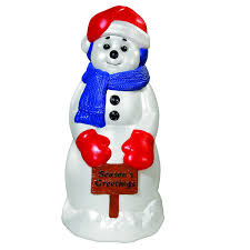 Outdoor Lighted Snowman Decorations by Cheerful Christmas Snowman Yard Decorations
