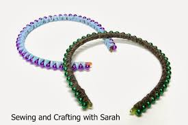 thin ribbon sewing and crafting with ribbon wrapped bead headbands tutorial