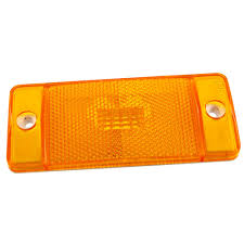 Bronco Front Side Marker Light Lens Amber With Housing 1970 1977