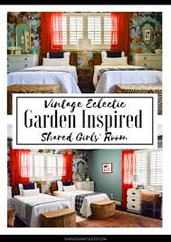 Eclectic Bedroom Design by Vintage Eclectic Garden Inspired Shared Girls U0027 Bedroom Domicile 37
