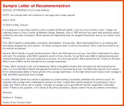 8 9 eagle letter of recommendation sample formatmemo
