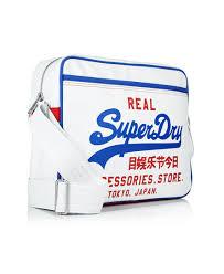 alumni bag factory direct cheap superdry mens mash up alumni bag white