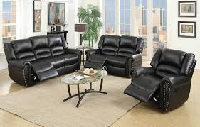 darco black leather recliner sofa awesome black reclining sofa 2