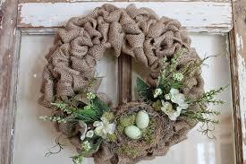 Spring Wreath Ideas Elizabeth U0026 Co Spring Burlap Wreaths With Flowers And Nests