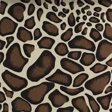 safari giraffe short pile velvet upholstery fabric by the yard