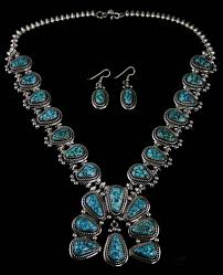 red gem necklace images Leonard nez red web kingman turquoise squash blossom necklace and jpg