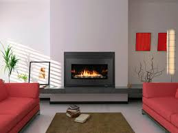 fireplace exquisite modern living room decoration using light
