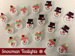 digicrumbs snowman tealights makes a cute ornament magnet pin