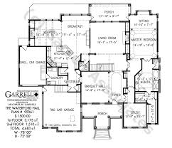 classic floor plans waterford hall house plan classic revival plans
