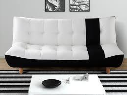 canap clic clac noir canapé clic clac tissu et simili noir et blanc vincent