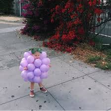 Potato Sack Creative Baby Halloween Halloween Kid Costume Bunch Purple Grapes Balloons