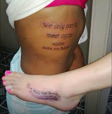 tattoos an in memory for their best who