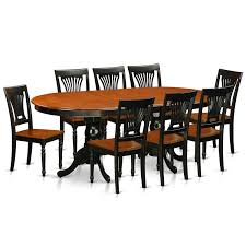 9 pc dining room set amazon com east west furniture plai9 blk w 9 piece dining table