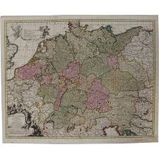 Holy Roman Empire Map Large 17th Century Map Of The Holy Roman Empire Germany
