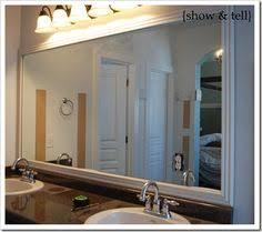 Mirror Trim For Bathroom Mirrors Framing A Plain Plate Glass Mirror Can Transform A Bathroom And