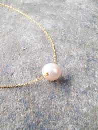 sterling gold necklace images Sterling gold plated single pearl necklace bobbles and lace jpg