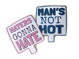 photo booth prop s not hot haters gonna photo booth prop sign