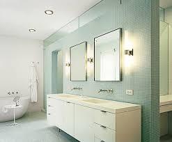 triple square framed wall mirrors bathroom lighting ideas for