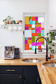 stained glass windows for kitchen cabinets diy faux stained glass a beautiful mess