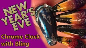Cuu Cuu Clock Nail Art New Years Clock Face Mirror Chrome U0026 Chameleon Chrome